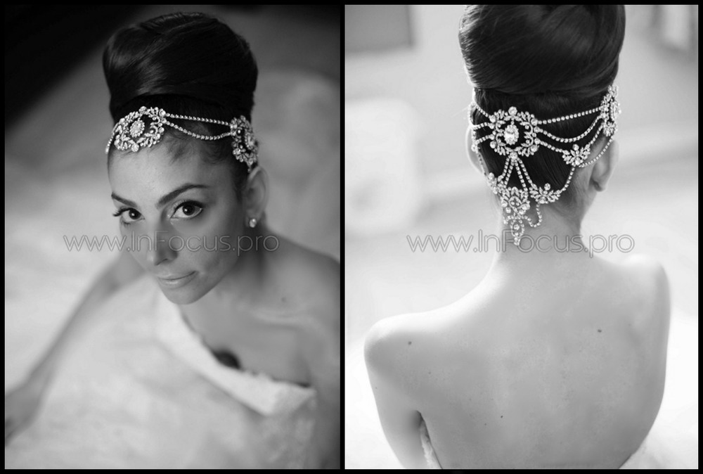 BRIDAL STYLES BOUTIQUE CUSTOM MADE HEADPIECE http://www.bridalstylesboutique.com/   HAIR BY OLYMPIA DA NOI ON FIFTH  http://www.danoionfifth.com/