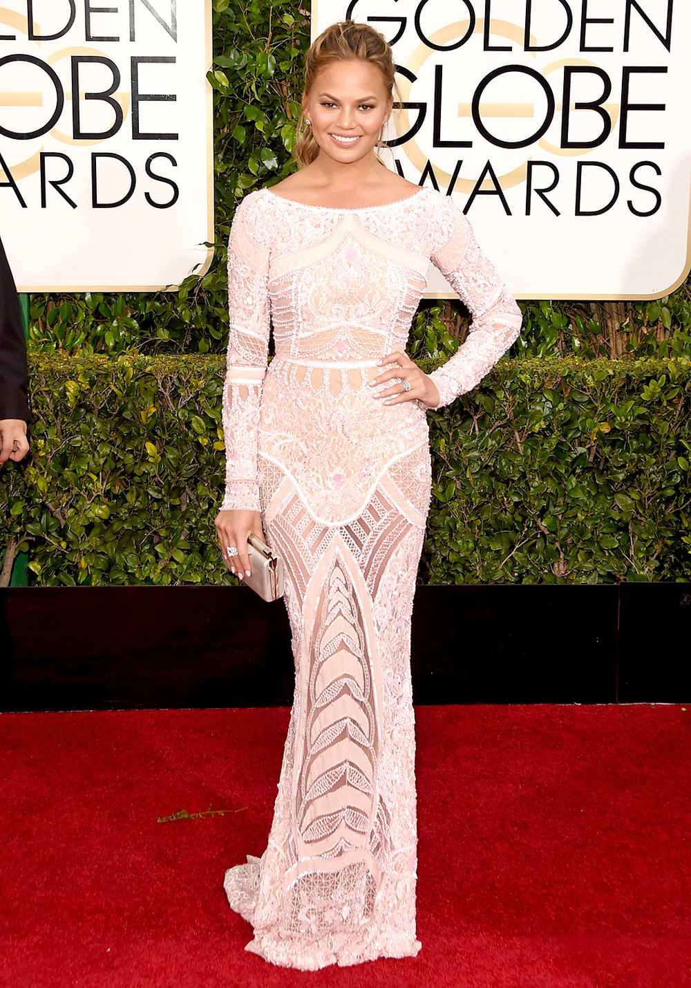 Chrissy Tiegan also in Zuhair Murad. What I would wear to the globes (LOL)
