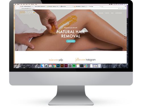 PURESUGARHB.COM  Informational website for sugaring hair removal salon Pure Sugar.