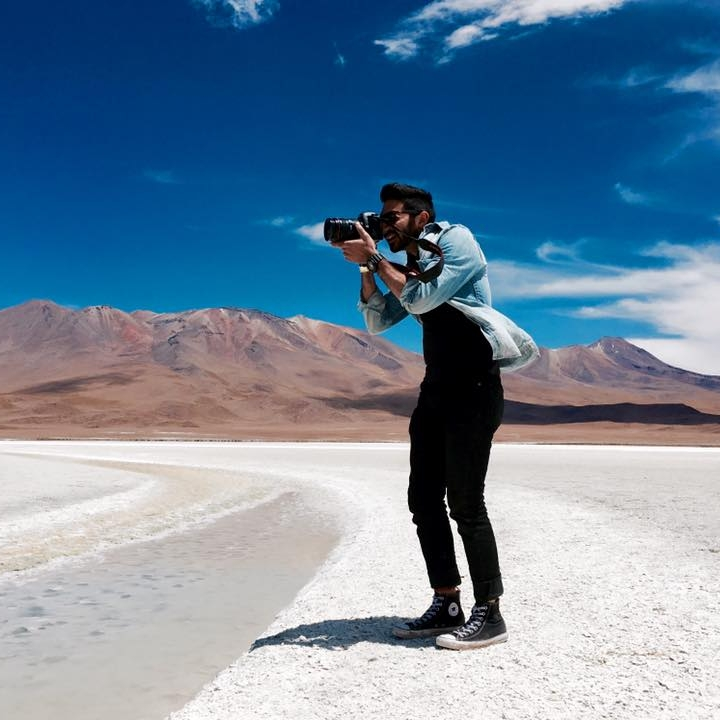 Shooting Flamingos -  Uyuni, Bolivia
