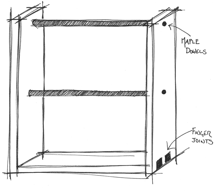 Earring Stand Sketch