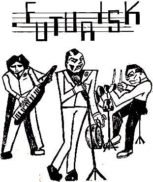 Futurisk Flyer Illustration c. 1982