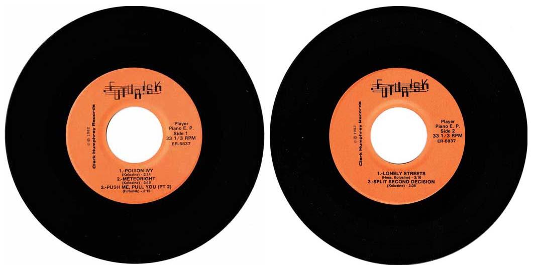 """Futurisk - Player Piano EP (1982) 7"""" Record"""