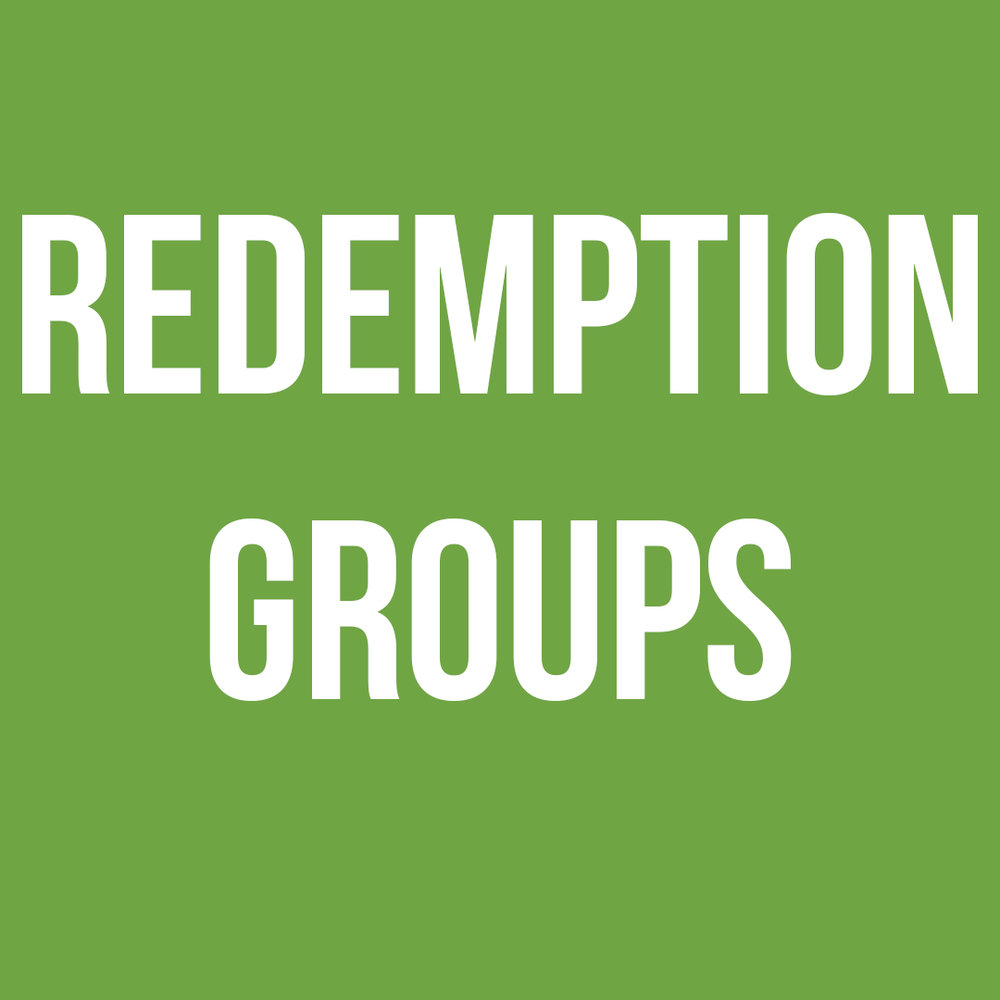 - Redemption Groups provide a safe place for those overcoming addiction and reminds them they're loved.Coaches oversee those who are leading Redemption GroupsLeaders lead Redemption groups through hosting and teaching.For more information on how you can serve in redemption groups, email info@theredeemerchuch.com