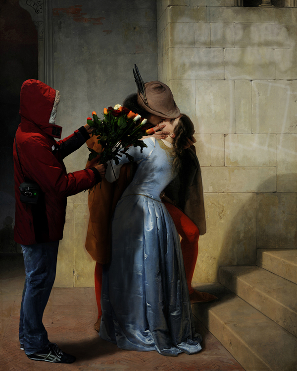 """The Kiss, in the wrong place and time"", from ""The Kiss"", Francesco Hayez"