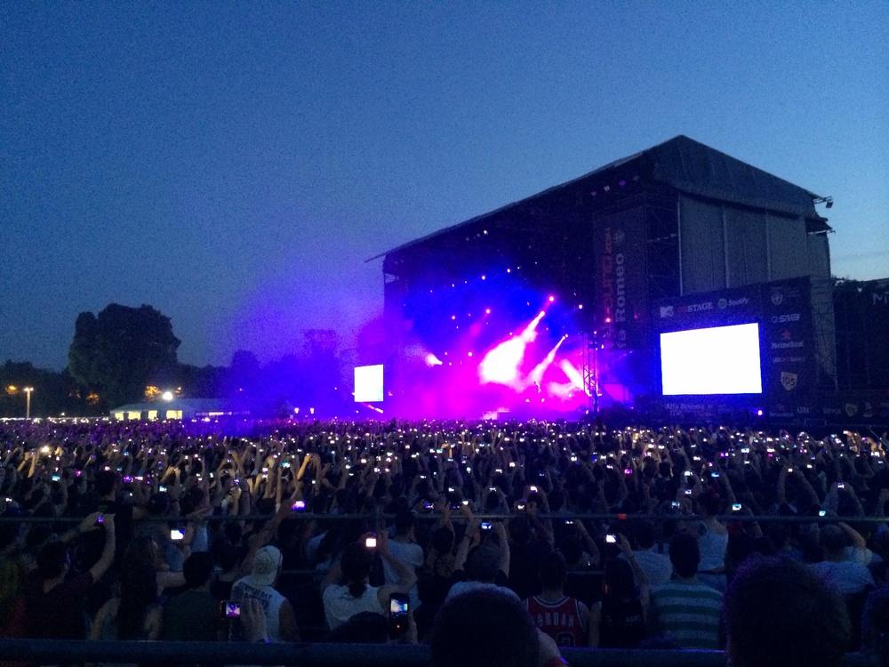 Immagine scattata all'ultimo concerto dei Linkin Park a Milano