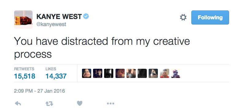 Un tweet di Kanye West nella sua tweetstorm contro Wiz Khalifa di qualche giorno fa e poi cancellato. Spiegato qui.