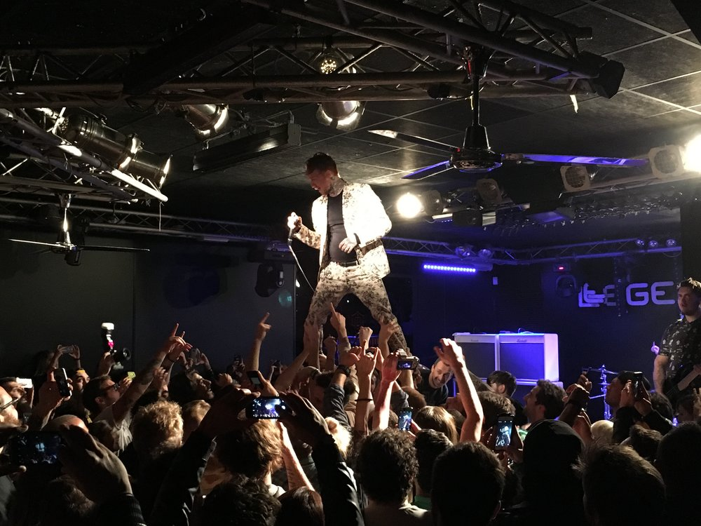 Frank Carter & The Rattlesnakes performing at Legends Club. Milan, October 2016