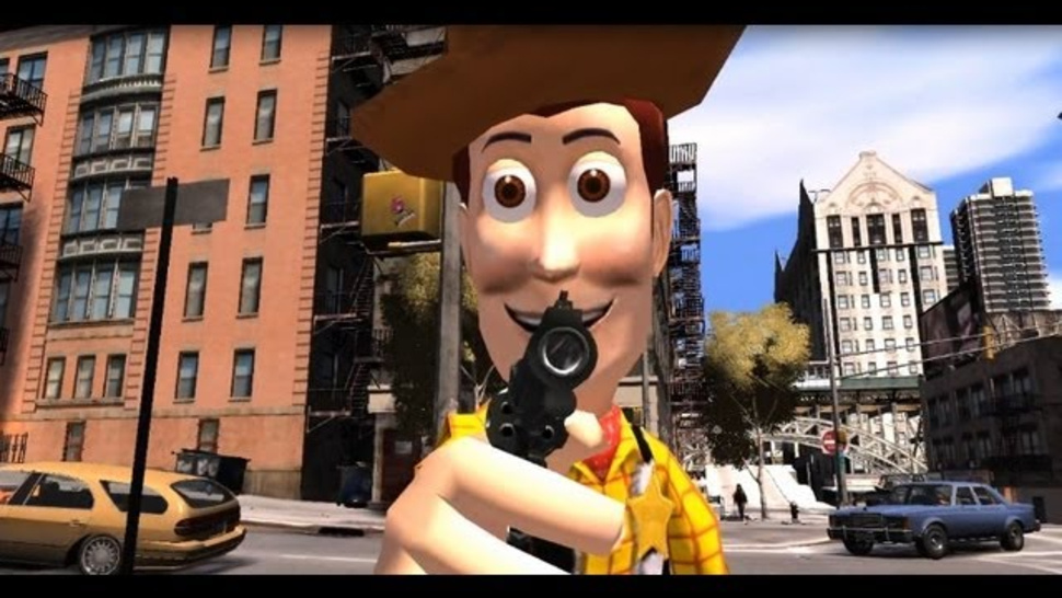 toy story grand theft auto Childhood Ruined Toy Story