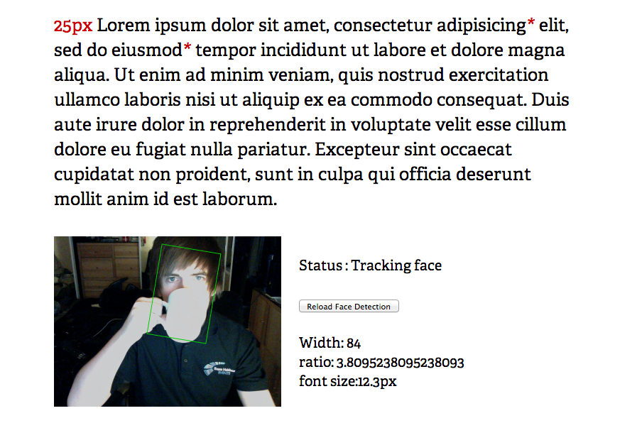 Responsive Typography Web Design Experiment Uses Face Detection To Adjust Font Size New Rising Media