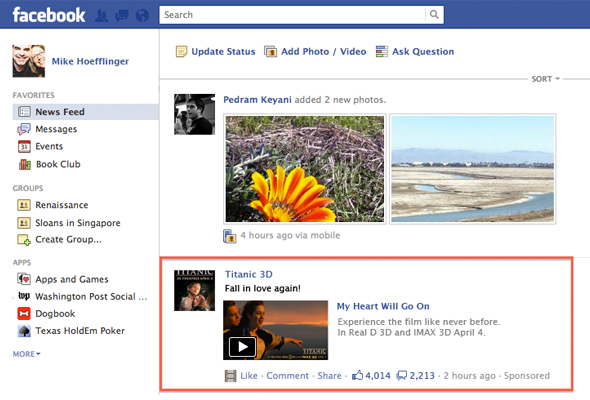 Facebook To Launch News Feed Ads Soon