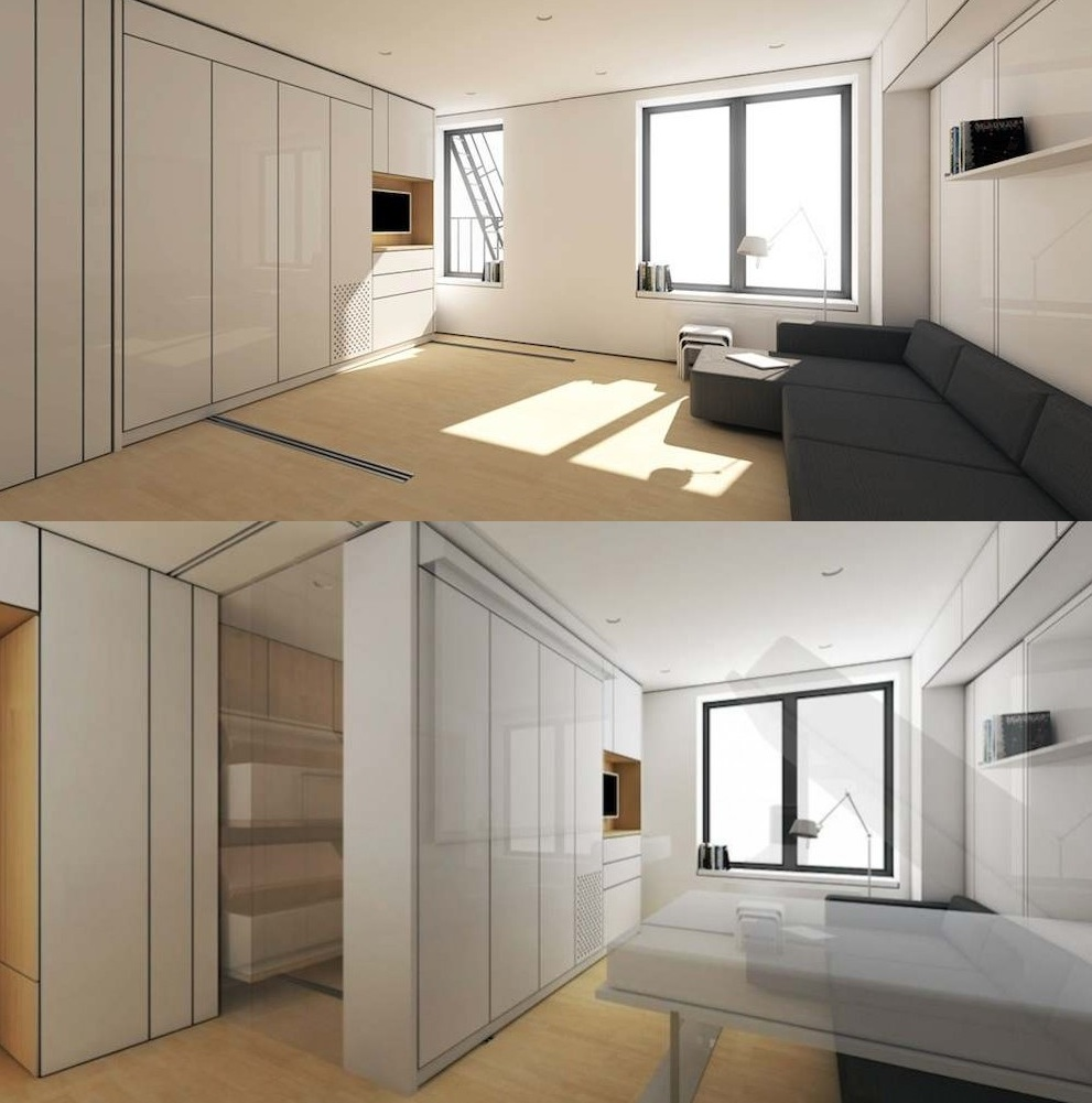 Extremely Cheap Apartments: The 'Swiss Army Knife' Of Studio Apartments Transforms