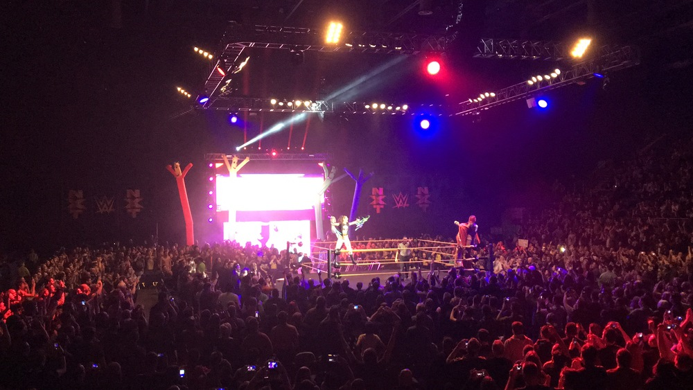 "Asuka and Bayley teamed up to face Emma and Dana Brooke. Nobody understood my feeble attempt at a ""Where's Santino?"" chant..."