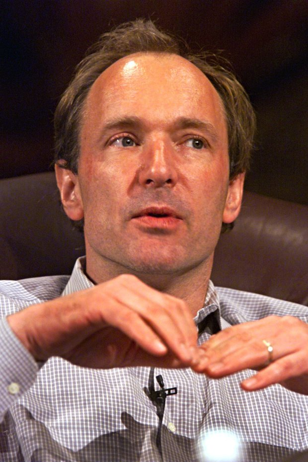 Pictured: Tim Berners-Lee, the daddy of the Internet