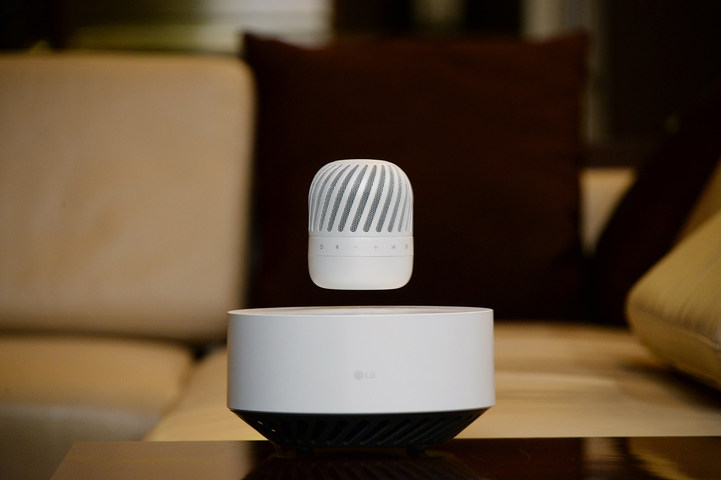 LG's levitating Bluetooth speaker