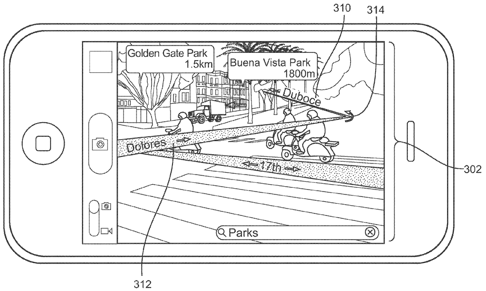 The image from the Augmented Reality Maps patent