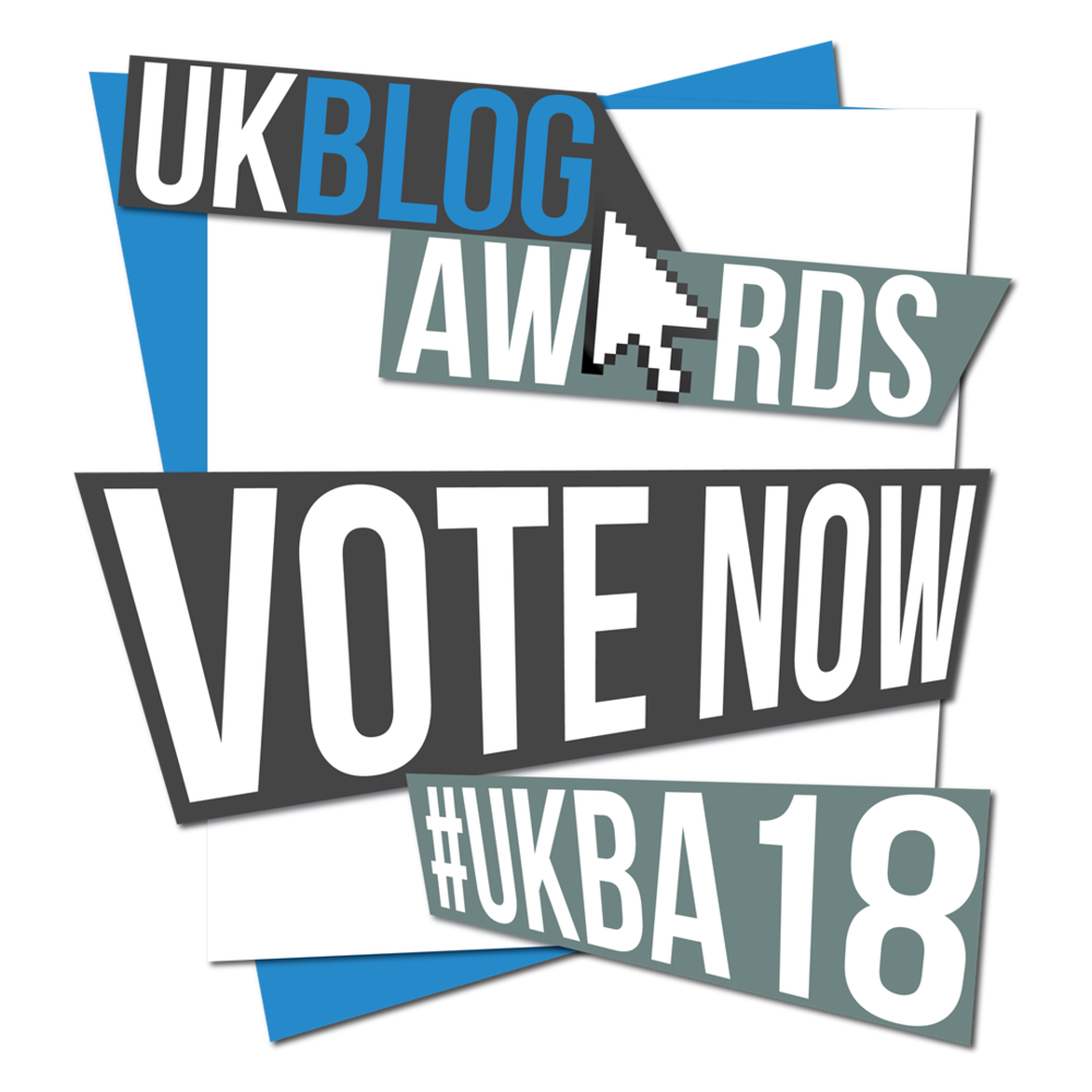 This blog is up for the UK Blog Awards. It would mean the world to me if you could take 15 seconds to place your vote. Click to do so - my story will wait for you...