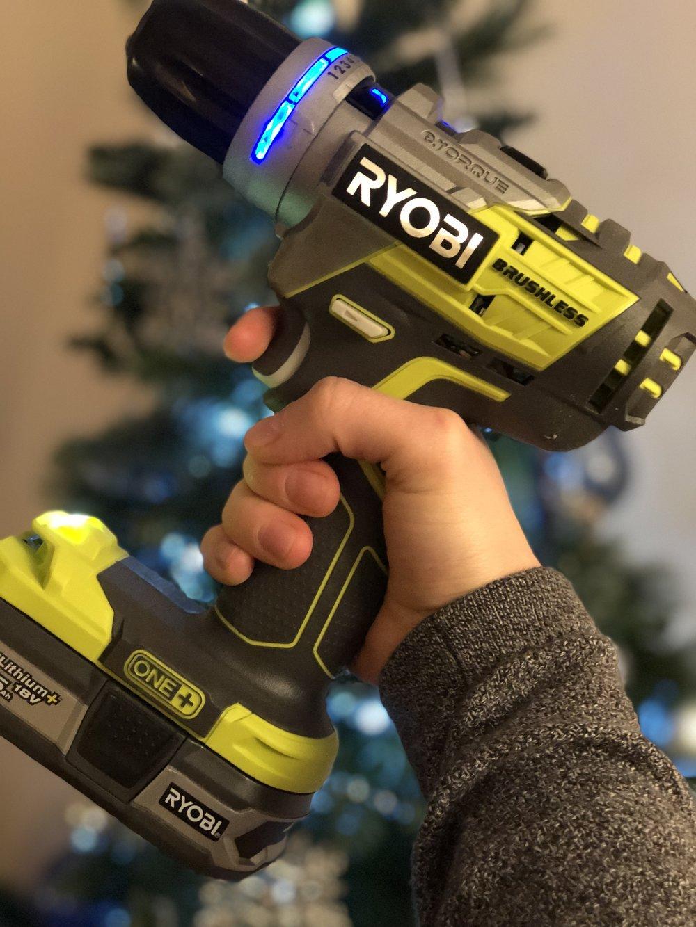 Ryobi 18v Brushless Cordless Drill - Gift set for £249.99