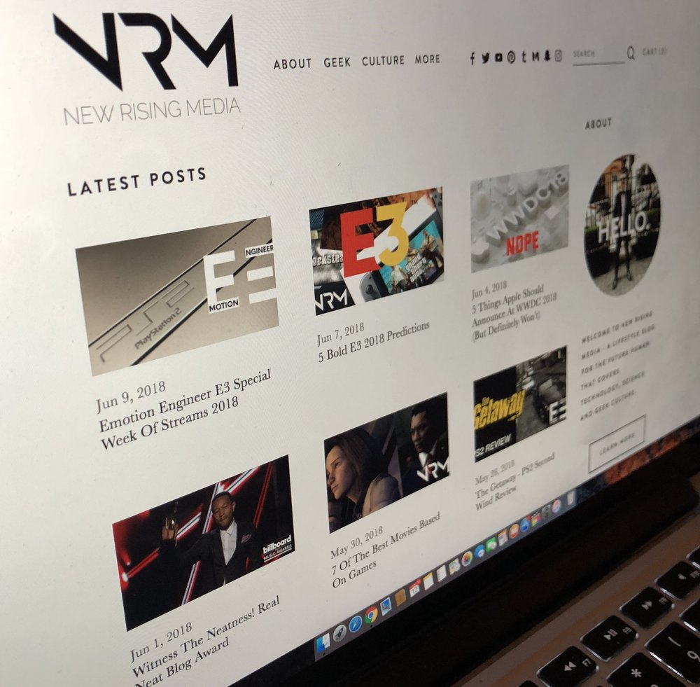 new rising media new website design
