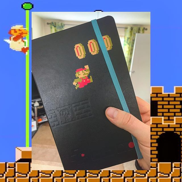 Rad new notebook for Christmas. Thanks @ljedesigner 🎮