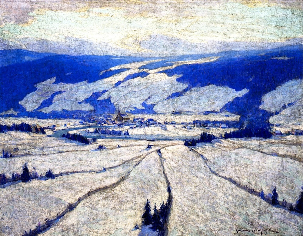 The Valley in December by Clarence Gagnon (public domain)