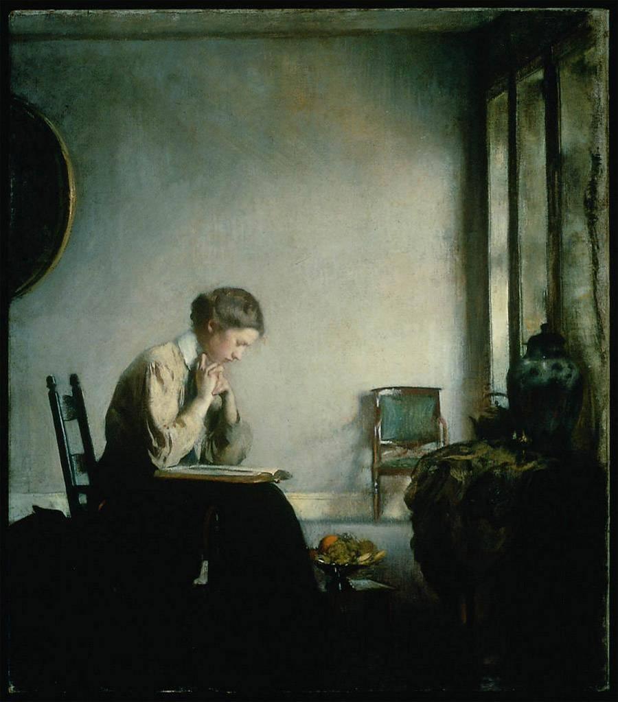 Girl Reading by Edmund Tarbell