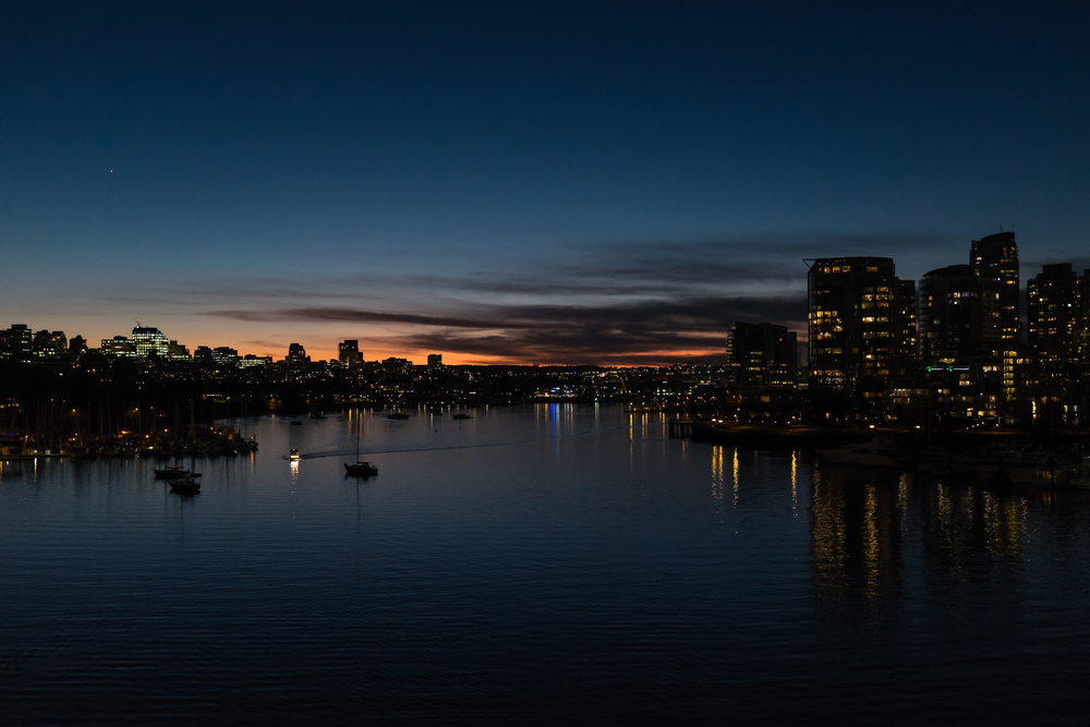 View from Cambie Street Bridge, 29 January 2015