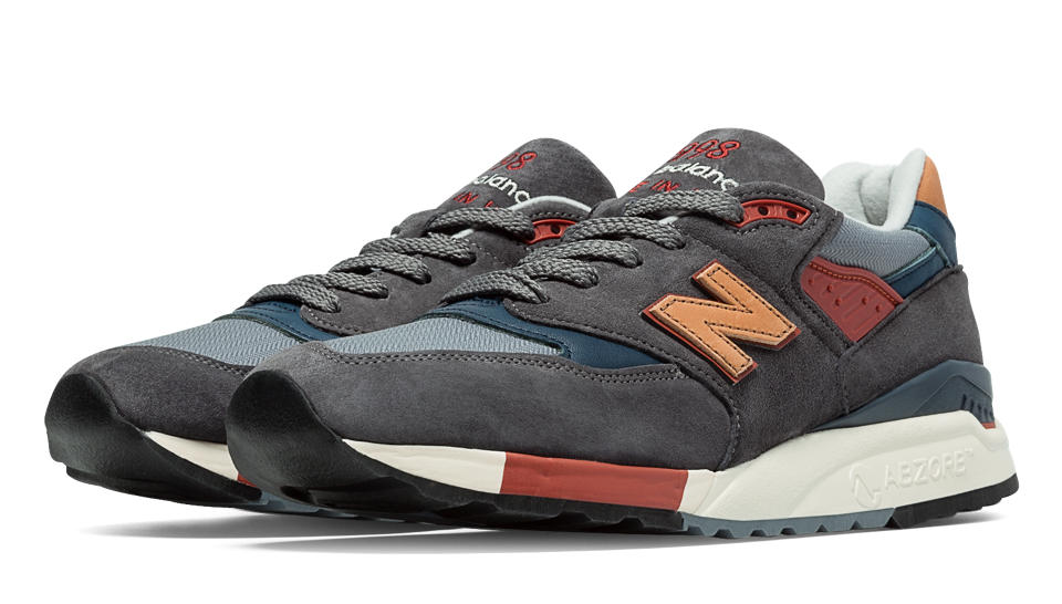 The 998 Distinct Mid-Century Modern, one of four shoe models and five colorways available in the collection.