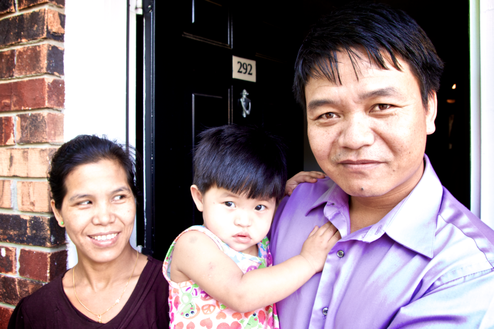 This is an empowered Burmese pastor and his family, courageously and faithfully serving refugees in Atlanta. No Daddy Warbucks necessary.