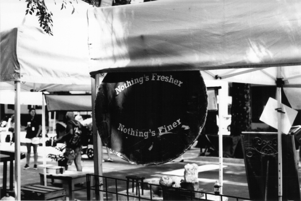 Nothing's Fresher, Nothing's finer.  Taken at the downtown Greenville Farmers Market.