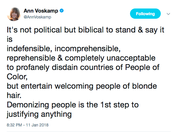 Thanks to people like Ann Voskamp for speaking out with grace and clarity.