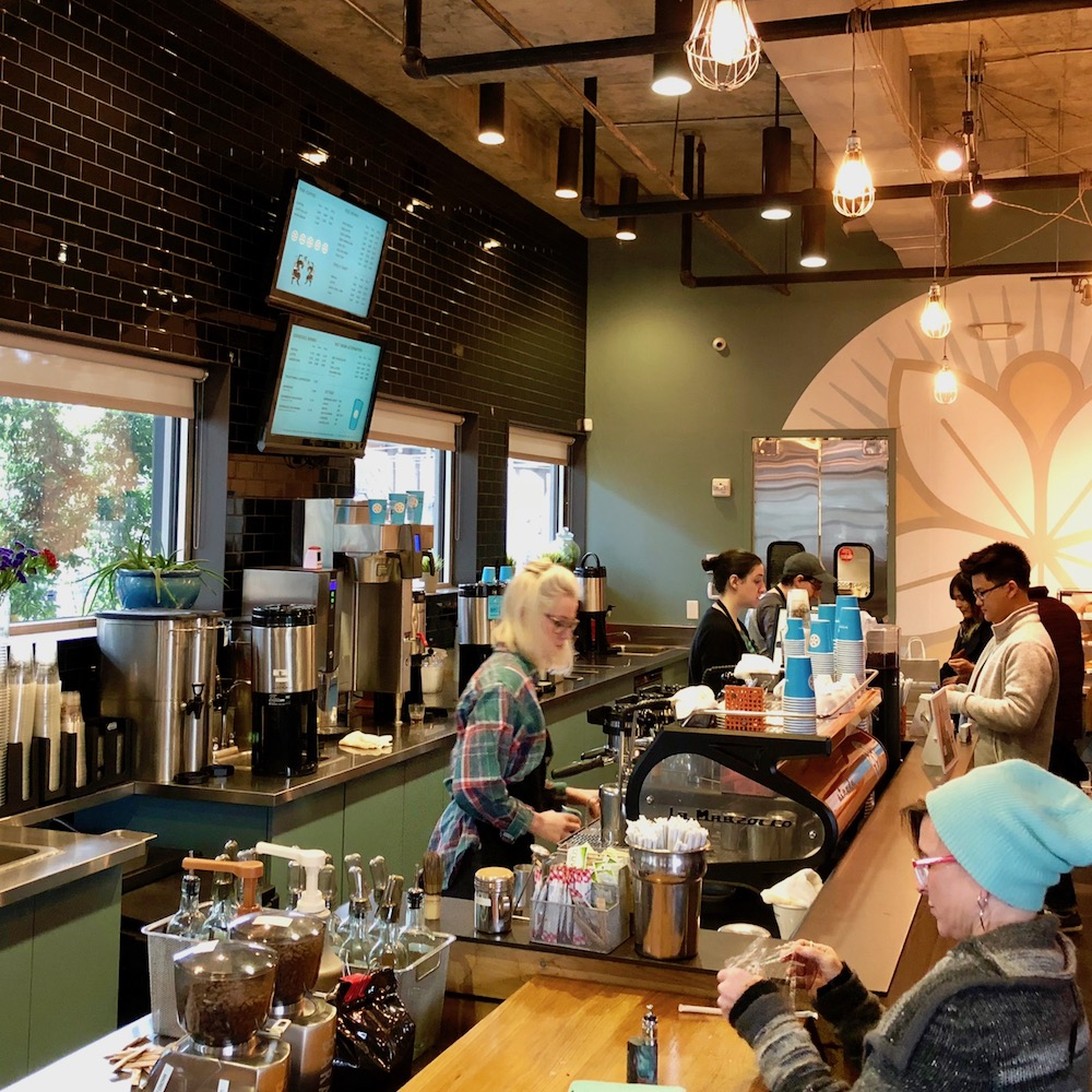 Dancing Goat's baristas know their stuff and make drinks to perfection.