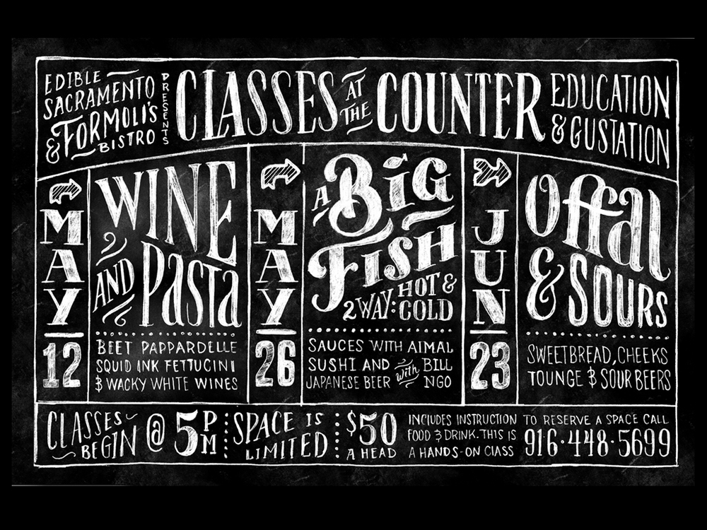 "Cleaned up in Photoshop, Inverted and added ""chalkboard"" texture."