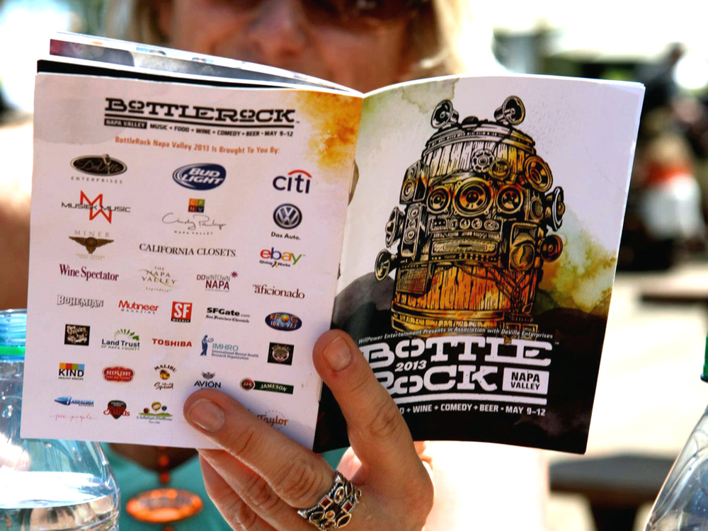 Official BottleRock Schedule