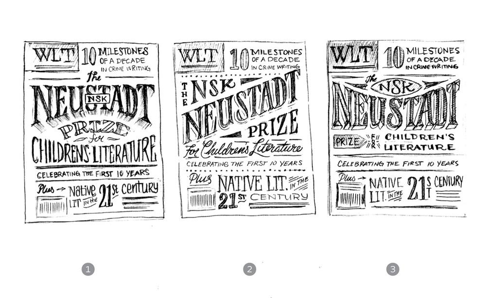 Original concept sketches for WLT cover art.