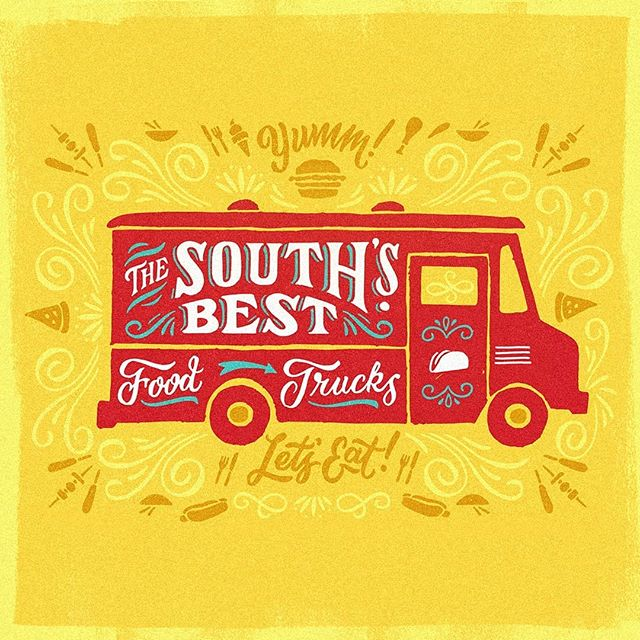"Throwback work done for @southernlivingmag and their ""Best Food Trucks"" List"
