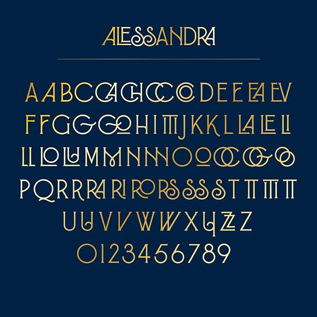 Introducing Alessandra, a FREE font that straddles the line of Art Nouveau's organic qualities and Art Deco's sleek geometric aesthetic. Free download available at my website (link in profile)  #freefont #typedesign #fontself #typography #typographydesign #typespire #typeface