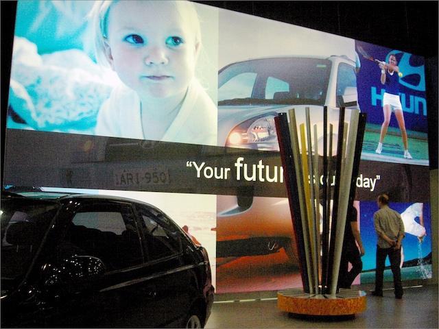 Giant lightbox for Hyundai motorshow Client:Hyundai Agency:G.P. Johnson