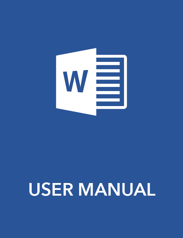 User Manual Template Word User Guide Download MS Word Sample – Templates for Manuals