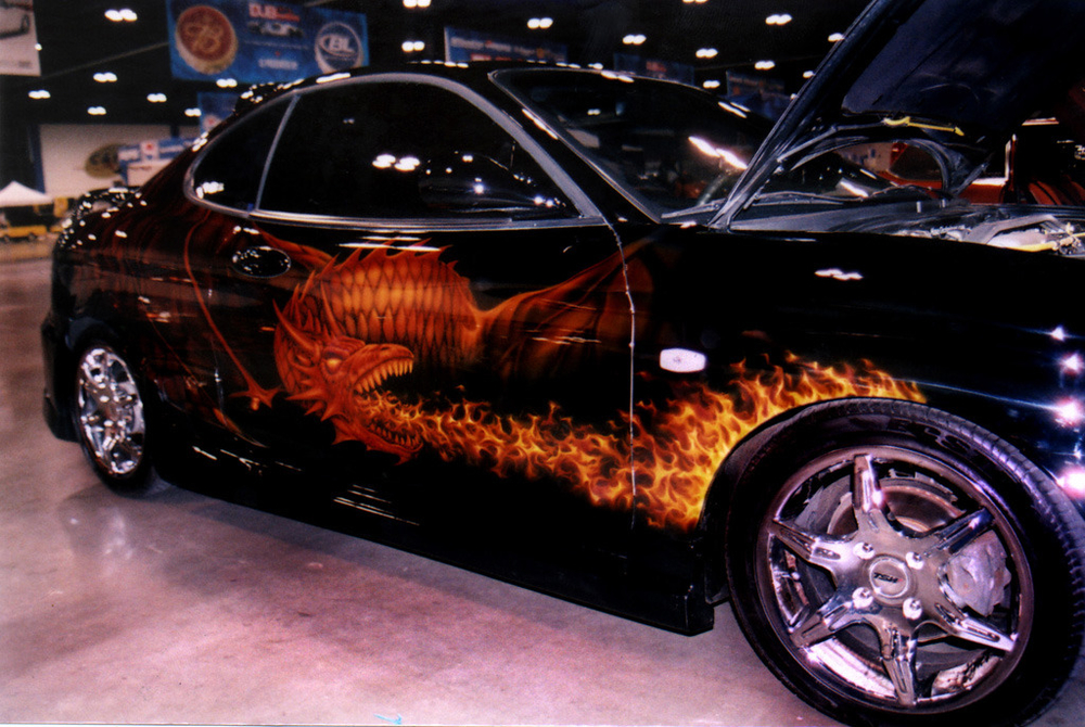 Dragon Car with Flames