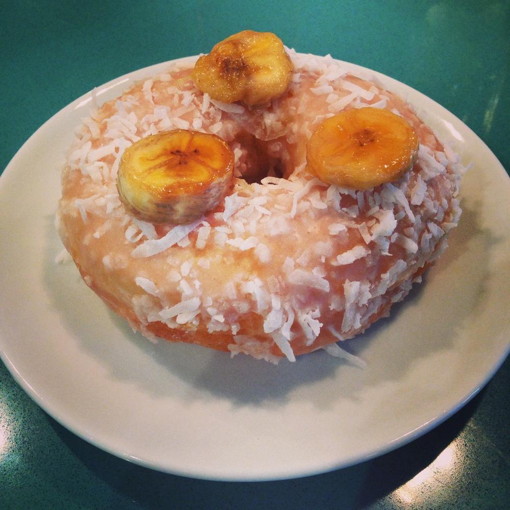Donut Special - caramelized banana coconut donut