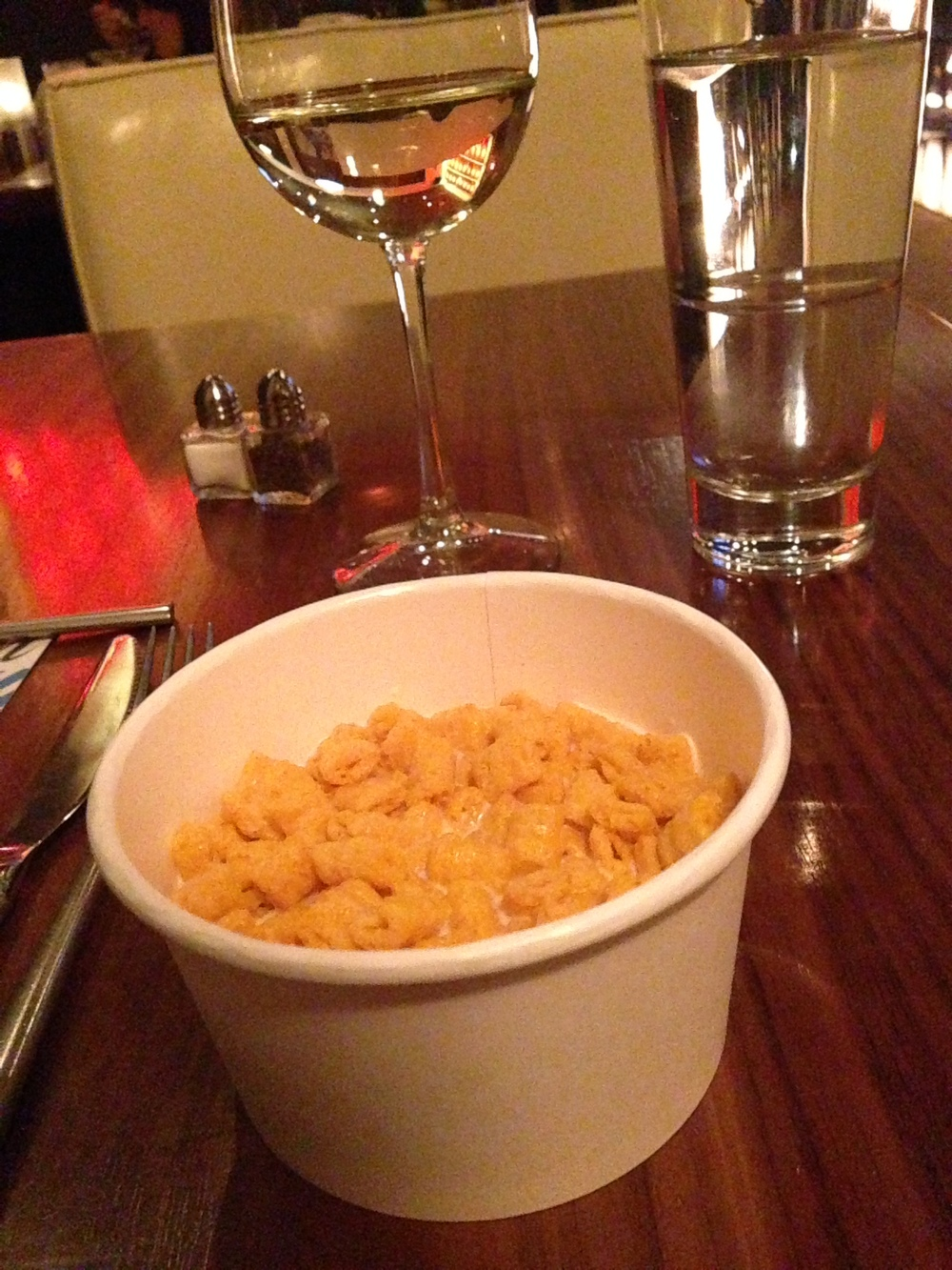 Captain Crunch paired with Riesling. Sweet paired with sweet.