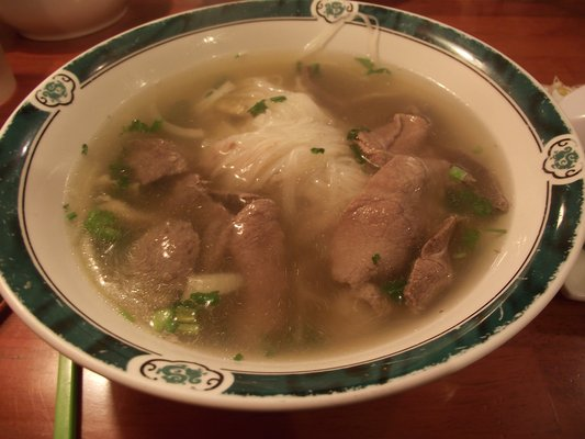 PH8. Pho Ha Long ac Biet (rare beef, beef flank, soft tendon, tripe, and meatball)