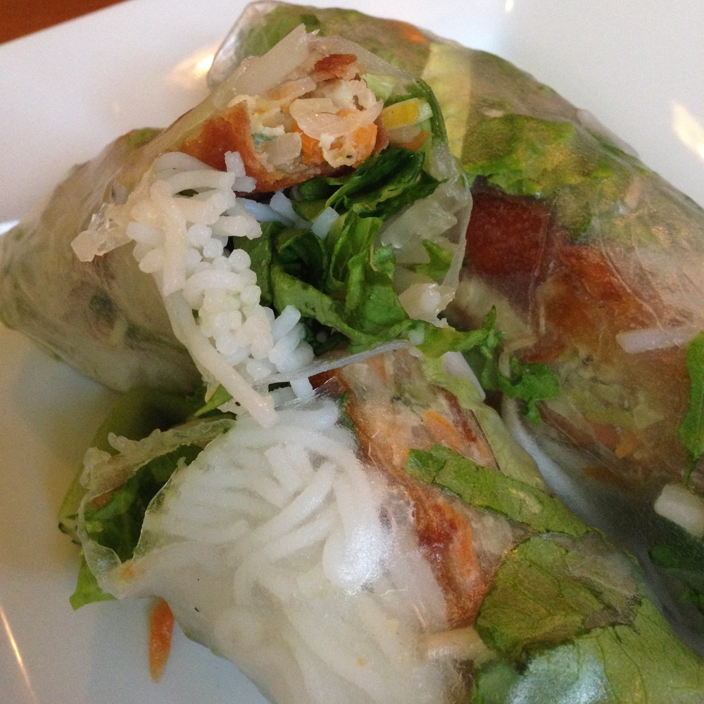 AP10.      Goỉ Cuốn Chả Giò  (Spring Roll Wrap over Vietnamese Egg Roll)