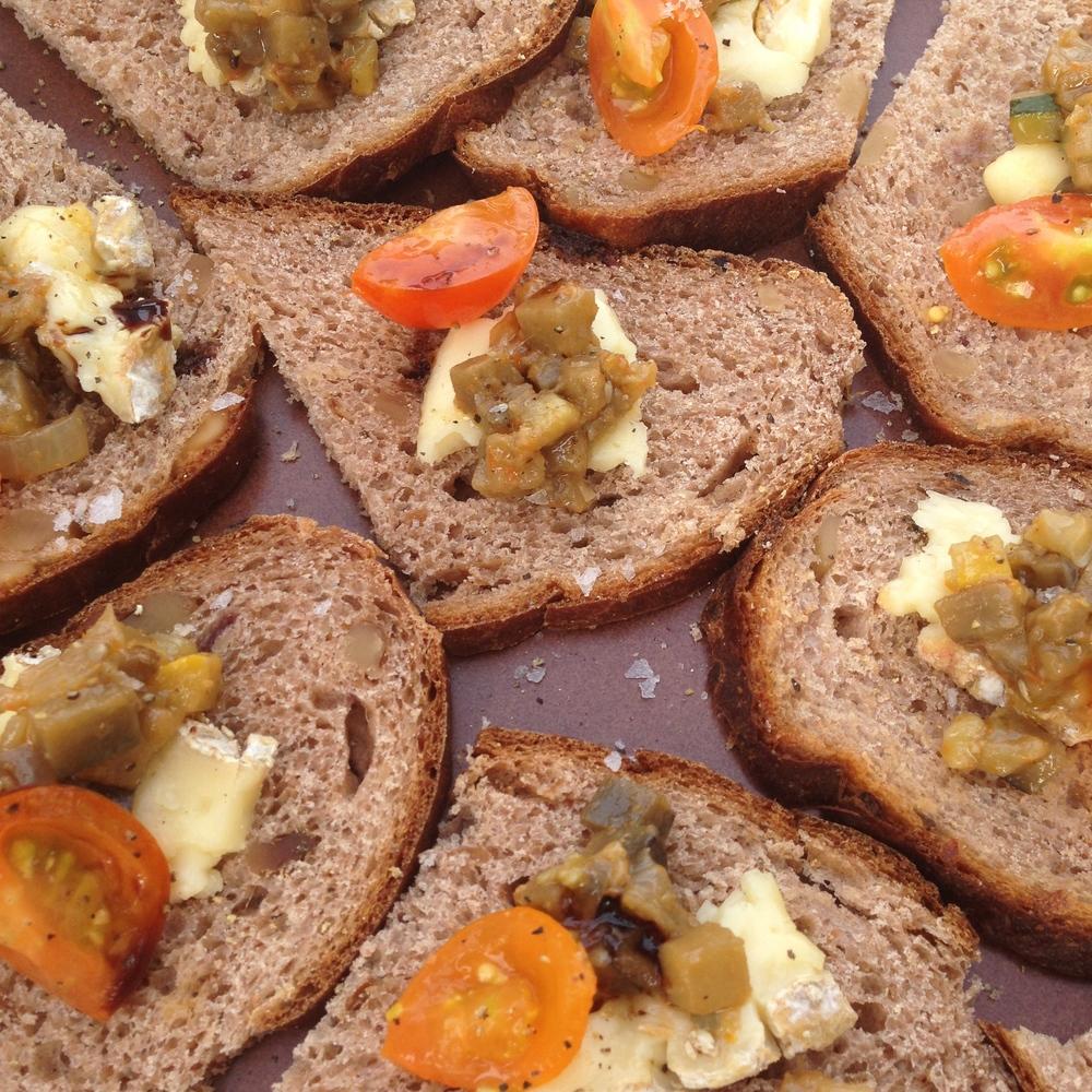 Date walnut bread, Creme de la Coulee St. Jennifer, ratarouille