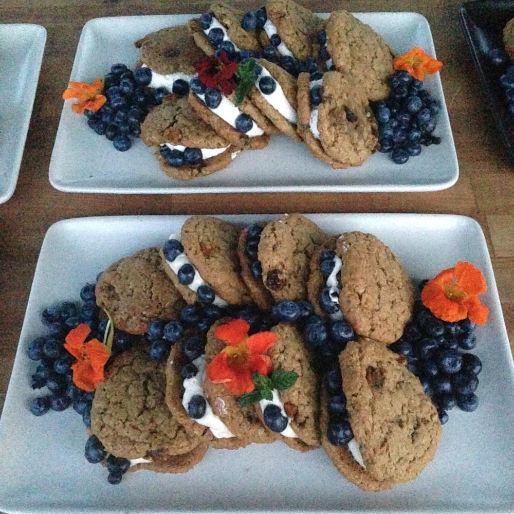 Blue Moon Community Farm ground cherry oatmeal cream pie