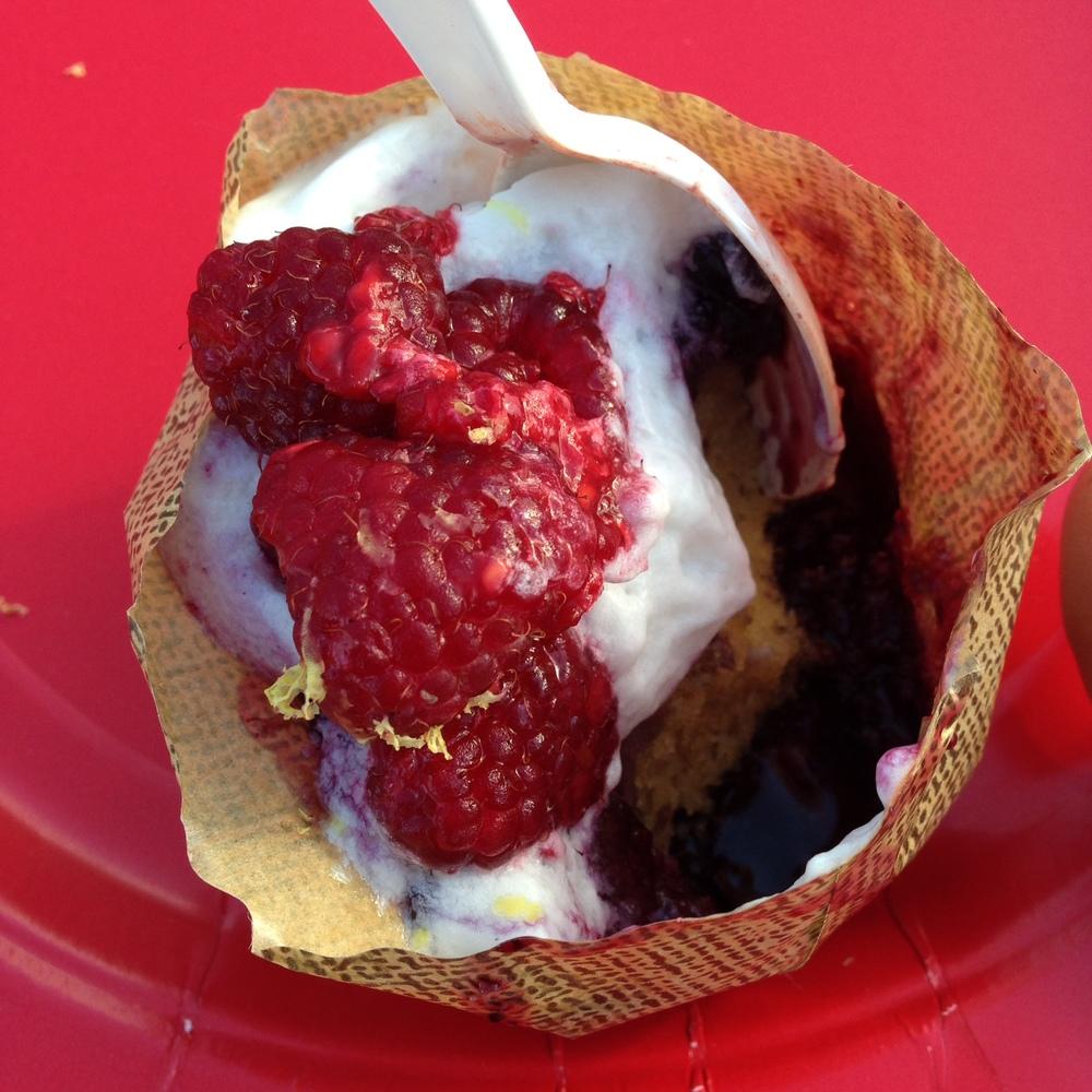 L'etoile -Blueberry shortcake with coconut foam (vegan & gluten free)
