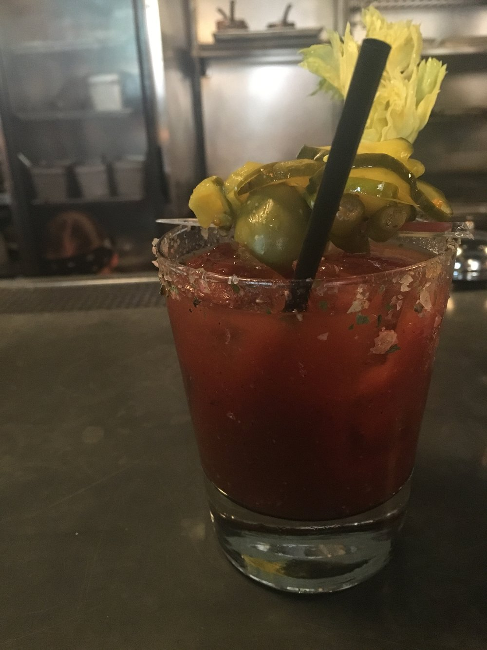 Bloody Mary - Tito's, V8, horseradish, black pepper