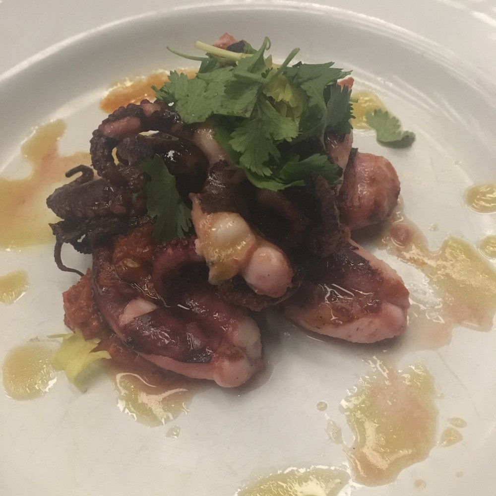 Grilled Moscardini Octopus with nduja