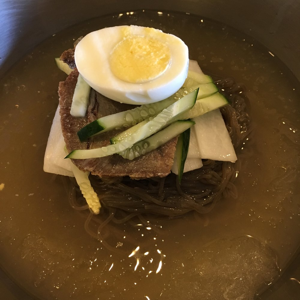 Naengmyeon- cold noodle soup